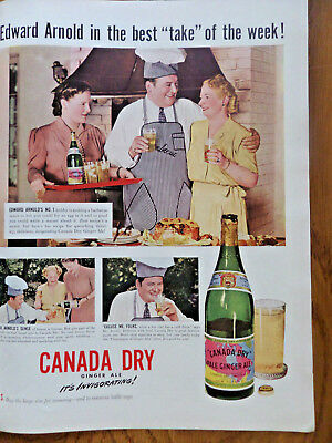 1942 Canada Dry Ginger Ale Ad Edward Arnold Barbecue