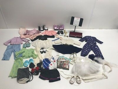 American Girl Doll Clothing/Shoes/Accessories Lot 8 Outfits Flute