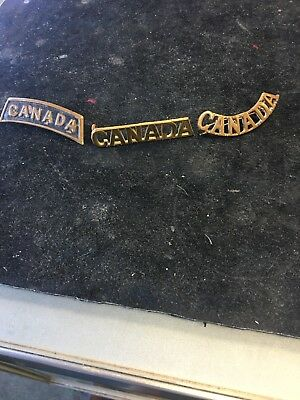 Wwi Canada..shoulder Pins Lot Of 3 Styles!!nice Lot!