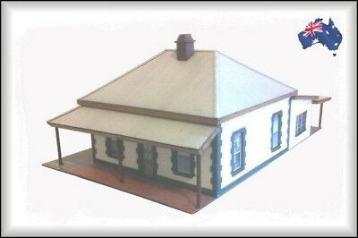 HO Scale Australian COTTAGE WITH TIMBER EXTENSION