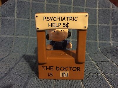 Peanuts Lucy The Doctor Is In Psychiatric Help 5 Cents Salt & Pepper Magnetic