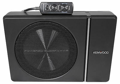 """Kenwood KSC-PSW8 8"""" 250w Slim Under-Seat Active Powered Car/Truck Subwoofer Sub"""