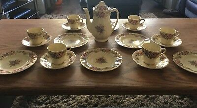 Vintage Antique Tea Set Coffee Set J&G meakin Sunshine 19 Piece