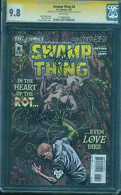 Swamp Thing 6 CGC SS 9.8 Scott Snyder Yanick Paquette 2 signed Rudy Top 1