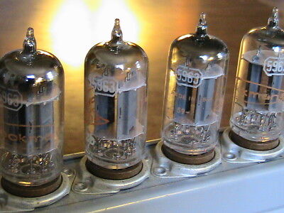 vintage 5963 tubes (12AU7)..qty...4.. and beckman counter module from model 7370