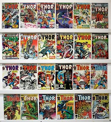 Thor lot of 156 comics VFNM or better -  a few lower See below for issue #'s