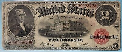 US 1917 Series $2.00 Two Dollar Note! 2