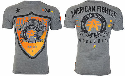 AMERICAN FIGHTER Mens T-Shirt ATHENA Eagle GREY Athletic Biker Gym MMA UFC $40