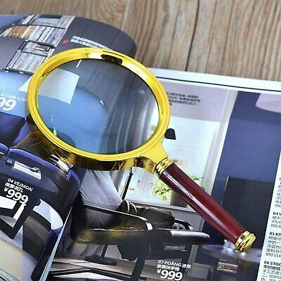 60mm Handheld 10X Magnifier Magnifying Glass Loupe Reading Jewelry Aid Big Large