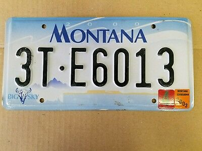 Montana  license plate BIG SKY 2003 preowned expired