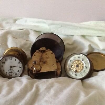 Small Antique clock movements x 3