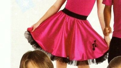NWT Sock-hop Dance Satinette Circle Skirt Organdy Ruffled Petticoat Rasp Child