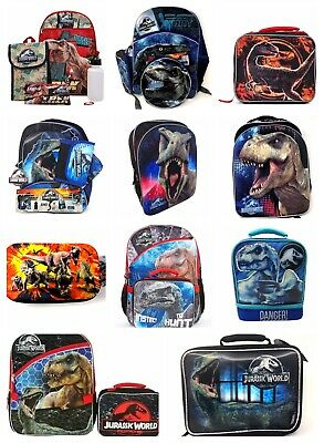 "Jurassic World 16"" Dinosaur Backpack W/ Laptop Sleeve or 5 PC Set or Lunch Box"