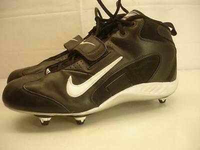 Mens 12 46 Nike Team Open Field 3/4 310945-011 Football Black White Shoes Cleats