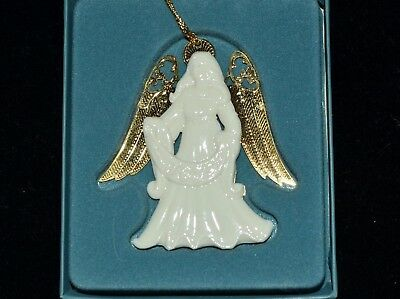 LENOX White Gold Angel of Joy Christmas Ornament NEW in Box