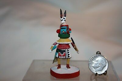 "Miniature Dollhouse Gordon Crook Native American Hey Haya Kachina Doll 2 1/8"" NR"