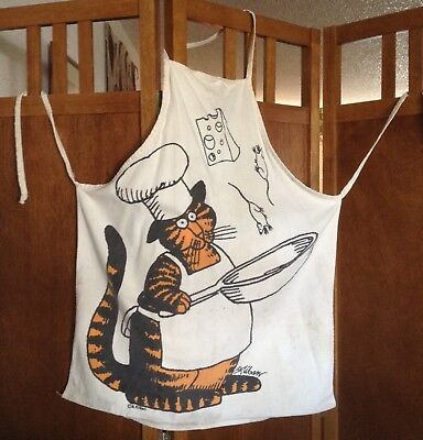 EXTRA RARE B. Kliban bib Apron CHEF CAT 'LOVE TO EAT THEM MOUSIES' Master Chefs