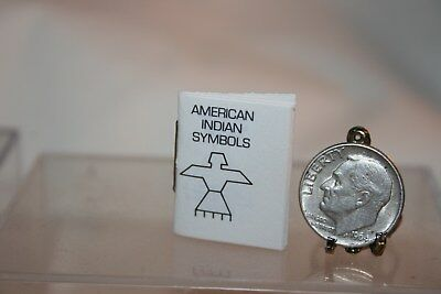 Miniature Dollhouse Mosaic Press Daryl Kane American Indian Symbols Booklet 1:12