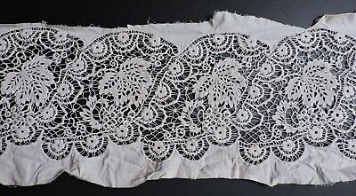 Most Exquisite 19Th C Hand Embroidered Lace Insert 4 Dress Trim W Spider Webs