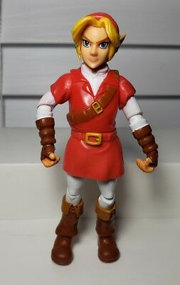 "World Of Nintendo Legend Of Zelda Link In Red Goron Tunic 4"" Action Figure Jakks"