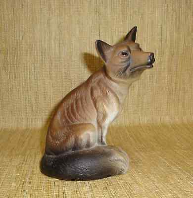 Skinny Brown Fox Bisque Figure Ribs Showing 5 3/4 Inch