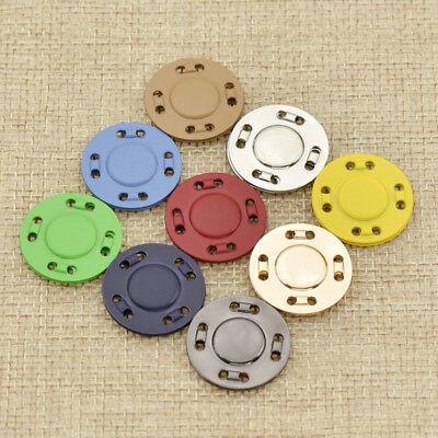 20mm Magnetic Snap Fasteners Clasps Buttons For Handbag Craft Sewing DIY