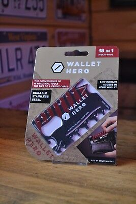 Wallet Hero 18 in 1 Multi-Tool Credit Card Pocket Screwdriver Bottle Opener Gift