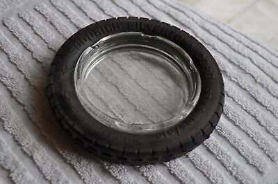Vintage B. F. GOODRICH Sivertown tire ashtray clear glass NICE condition