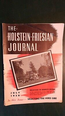 Holstein Journal 1958 Star Brood Cows + Rosafe & Romandale Farms + Major Shows