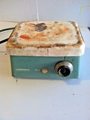 Corning Glass Works Laboratory Hot Plate Model PC-35 Tested and works good!!
