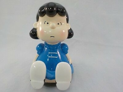 "Vintage Schmid Ceramic ""Lucy"" from Charlie Brown Peanuts Music Box Made in Japan"