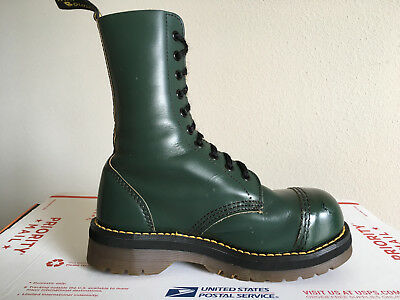 90s Vintage Dr Martens Steel Toe boots 5 Green 10eye 1919 aggy jadon crazy bomb