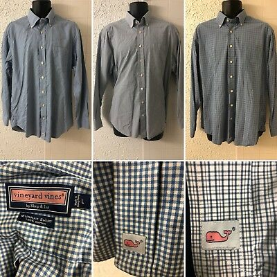 42547c7f64 Lot of 3 Vineyard Vines Murray Shirts Plaid Check Long Sleeved Size Large L