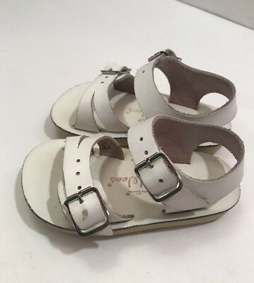 SUN SAN Salt Water Sea Wees White Sandals Size 3 Infant