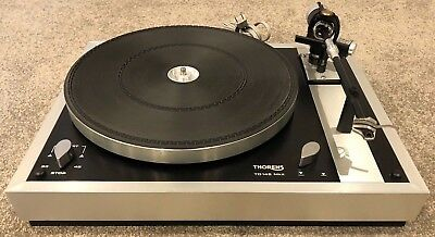 Vintage Thorens TD 145 MK II Turntable With Stainless Steel Base No Reserve