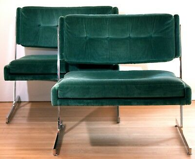Pair of Probber Lounge (Slipper) Chairs