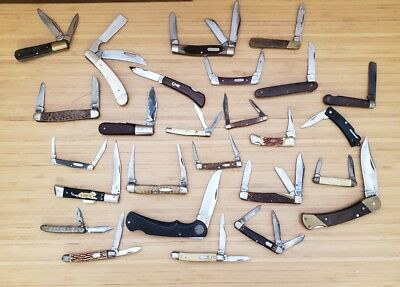 Lot Of 26 Vintage Pocket Knives Old Timer- Barlow- Case -MKlein -Schrade