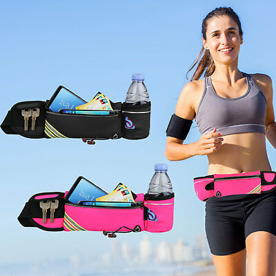 Sport Belt Waist Pack Pouch Water Bottle Holder Bag For Running Jogging Hiking