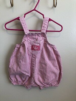 Vintage Oshkosh Striped Bubble Overalls Romper