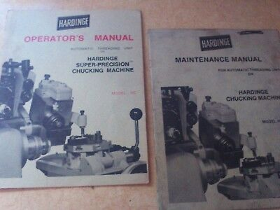 hardinge mantenance manual and operators manual