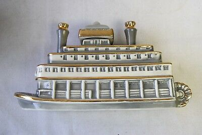 Vintage Obr 1968 Kentucky Whiskey Decanter Mississippi River Queen Paddle Boat.