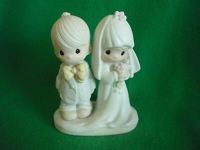 """Precious Moments figurine """"The Lord Bless You and Keep You"""" Wedding Party series"""