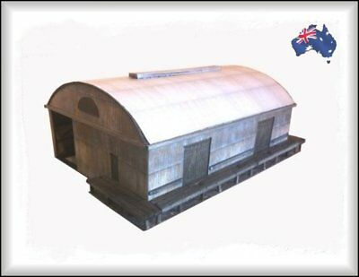 HO Scale Australian LARGE GOODS SHED 60' Curved Roof