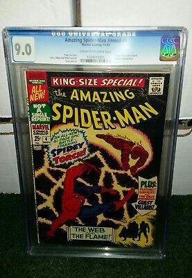 Amazing Spider-Man King-Size Annual #4, CGC 9.0 APPEARANCE  Mysterio