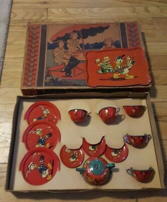 1939 Disney Party Tea Set Donald Duck