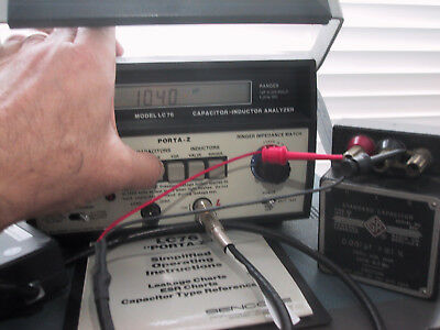 Working SENCORE LC76 PORTA-Z LC METER with ESR, Leakage, and Ringer (Q) tests