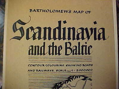 Bartholomew's Map Of Scandinavia & The Baltic- Printed & Publis In Great Britain