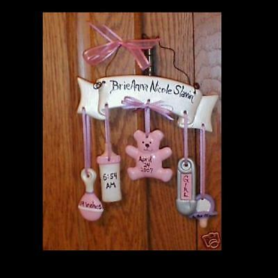 Ceramic Personalized Baby Girl - Boy Wall Hanging