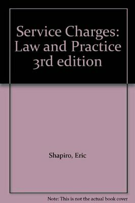 Service Charges: Law and Practice by Slater, Brian Paperback Book The Cheap Fast