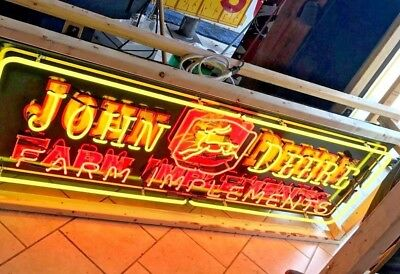 HUGE John Deere Farm Implements Neon Sign. 6 FOOT